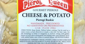 POTATO&FARMERS CHEESE PIEROGI $5.99